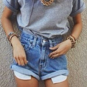 Brandy Melville high waisted denim shorts